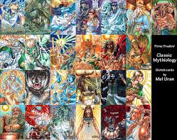 classic mythology sketch cards by meluran on deviantart