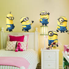 new fashion despicable me small yellow man cartoon bedroom 3d