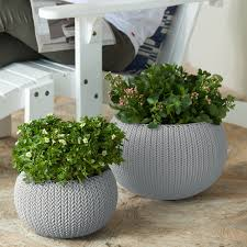 Keter Plastic Keter Knit Cozie 11 In U0026 14 2 In Dia Small U0026 Medium Resin 2