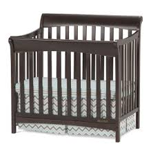 Convertible 4 In 1 Cribs Slate 4 In 1 Convertible Mini Crib With Mattress Ashton Rc