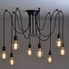 8 heads vintage industrial ceiling lamp edison light chandelier