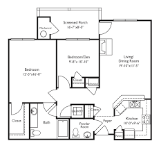 floor plans for retirement homes looks wheelchair accessible