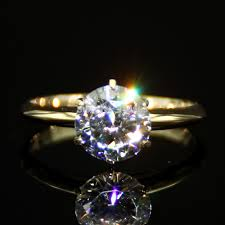 2 carat gold engagement ring classic wedding ring with 6 prong 2 carat lab grown ring
