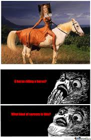 Horse Riding Meme - a horse riding a horse by brandini734 meme center