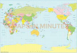 World Political Map by Vector World Political Map In The B S A M Projection Japan