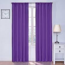 eclipse kendall blackout purple curtain panel 84 in length