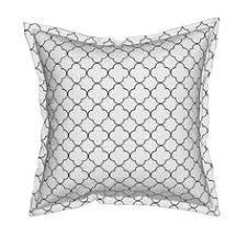 serama throw pillow featuring quatrefoil 2 medium gray by