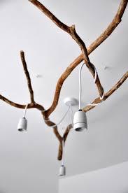 tree branch chandelier nature inspired diy tree branch chandelier shelterness
