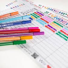 tagebuch selbst designen die besten 25 stundenplan selbst gestalten ideen auf