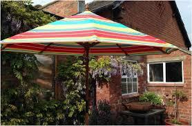 Striped Patio Umbrella Multi Color Patio Umbrella More Eye Catching Elysee Magazine