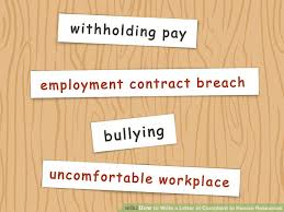 4 ways to write a letter of complaint to human resources wikihow