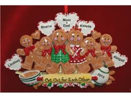 gingerbread ornaments 6 gingerbread family christmas ornament