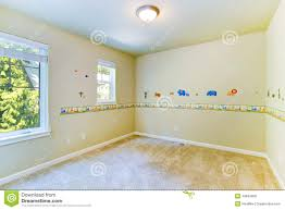 empty kids room with painted walls stock image image 43844805