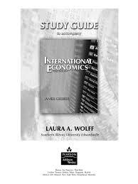 study guide for international economics by gerber world trade