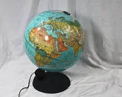 earth globes that light up light up globe etsy