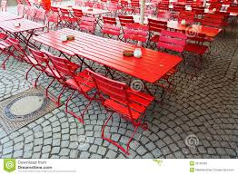 Beer Garden Tables by Red Beer Garden Tables Royalty Free Stock Photos Image 30165968