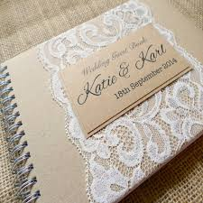 Shabby Chic Wedding Guest Book by Country Lace Kraft Wedding Guest Book Shabby Chic And Rustic