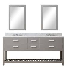 cadale 72 inch gray finish double sink bathroom vanity one mirror