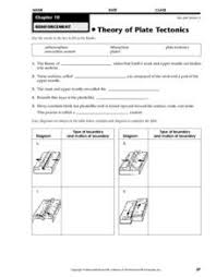 theory of plate tectonics 6th 8th grade worksheet lesson planet