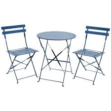 Metal Bistro Chairs Metal Folding Bistro Set Faux Wood 3 Piece Folding Outdoor Bistro