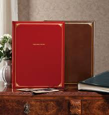 leather bound scrapbook personalized oversized scrapbook large photo albums exposures