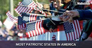 2017 s most patriotic states in america wallethub