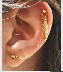 earrings with chain ear cartilage jewels feather earrings earrings piercing piercing cartilage