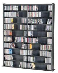 hardwood dvd cd storage rack for cd dvd vhs and games