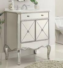 mirrored vanities for bathroom mirrored sink vanity ebay
