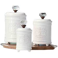 white ceramic kitchen canisters mud pie 4931002 kitchen canister set of 3 white