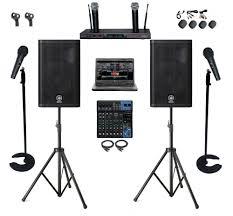 professional dj karaoke system 1tb laptop yamaha mixer dxr12