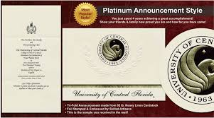 ucf diploma frame of central florida graduation announcements