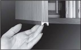 Richelieu Cabinet Pulls Richelieu 32901210 Finger Grip Pull Handle For 5 8