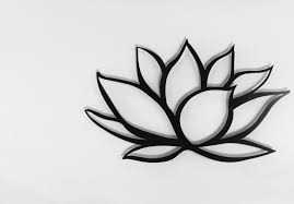 black lotus flower metal wall art lotus metal art home