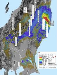 Fukushima Radiation Map Radioactive Contamination U2013 Deposition Or U0027fallout U0027 Maps