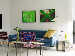 Living Room With Blue Sofa by Eccentric Living Room With Blue Sofa Gold Pillow And Unusual Two