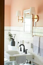 Bathroom Collections Furniture A Blush Bathroom With Classic Style Fouta Bath Collection Via