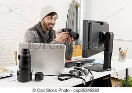 bureau photographe sien bureau photographe travail examen appareil
