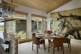 modern rustic dining room mediterranean table white metal