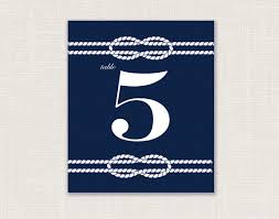 Table Numbers Wedding Nautical Wedding Table Numbers Preppy Wedding Style