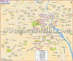touristic map of delhi travel map delhi tourist guide map