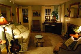 cozy livingroom cozy living room with ivory sheers