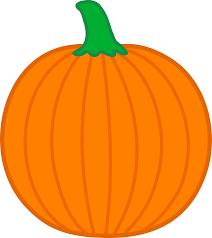 simple orange pumpkin free clip