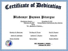 Dedication Certificate Template baby dedication certificate template 21 free word pdf documents