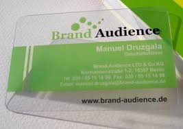 Plastic Business Card Printing Clear Plastic Printing Promotion Shop For Promotional Clear