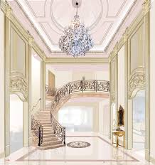 Mansion Design This Well Appointed Interior Design For A Two And Half Story Foyer