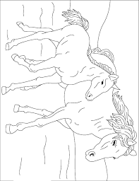 horse coloring animals town animals color sheet horse