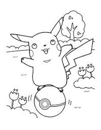 pikachu pokemon coloring pages template