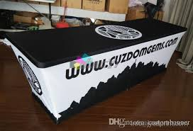 Spandex Table Cover 8ft Custom Printed Spandex Table Covers Trade Show Tablecloth