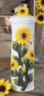 sunflower kitchen canisters tungan sunflower perabot rumah dapur interior sunflowers